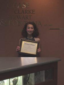 scholarship winner Jenna